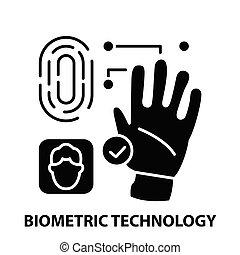 coups, illustration, biometric, concept, icône, vecteur, noir, signe, editable, technologie