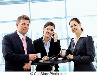 coupure, café, businesspeople, avoir