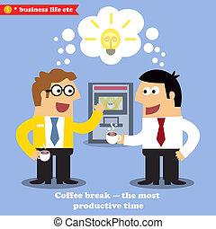 coupure, café, collaboration