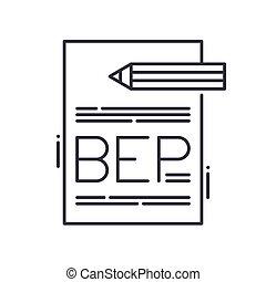 coupure, contour, linéaire, vecteur, concept, toile, isolé, point, arrière-plan., conception, editable, illustration, ligne, symbole, même, icône, signe, blanc, mince, coup