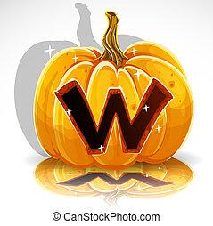 coupure, halloween, pumpkin., w, police, dehors