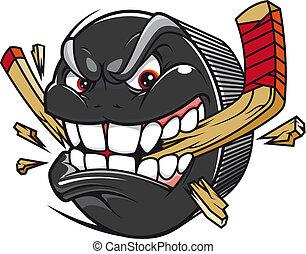 coupure, lutin, hockey bâton