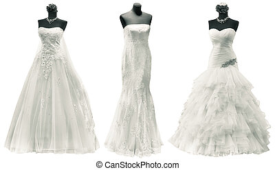 coupure, robes, mariage