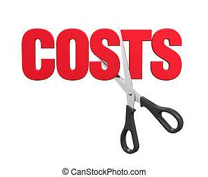coupures, concept, coûts