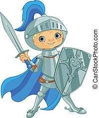 courageux, chevalier, combat