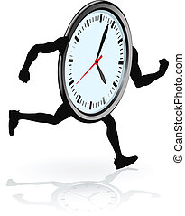 courant, caractère, horloge