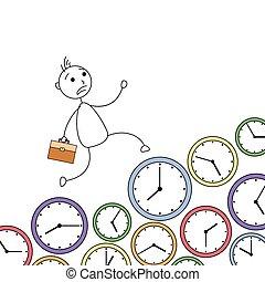courant, clocks, sur, homme, crosse