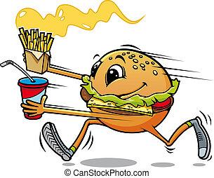 courant, hamburger
