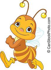 courant, mignon, abeille
