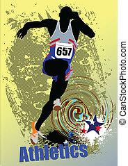 courant, peop, athletics., affiche