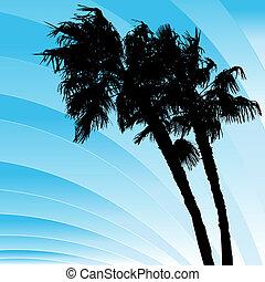 courber, venteux, palmiers