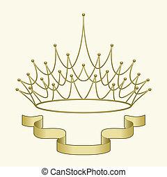 couronne, bannière