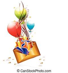 courrier, anniversaire