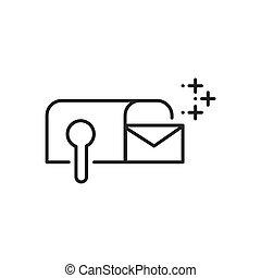 courrier, commercialisation, annonce, icônes