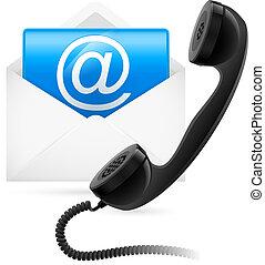 courrier, téléphone