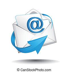 courrier, vecteur