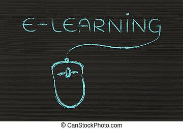 cours, toile, classes, ligne, e-apprendre