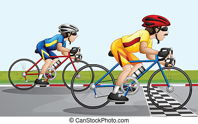 course, faire vélo