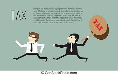 course homme affaires, évasion fiscale