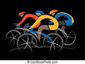 course, vélo