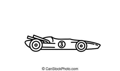 courses, ligne, voiture, alpha, 1970s, f1, icône, canal