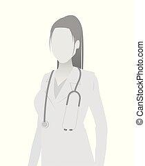 court, docteur, default, placeholder, portrait