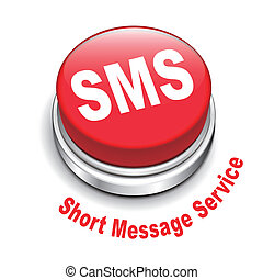 court, service, ), (, bouton, sms, illustration, message, 3d