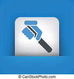 couteau, tenue, illustration, main