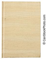 couverture, isolé, texture, bois, vide, blanc, livre