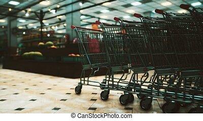covid-19, épidémie, supermarché, vide