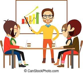 coworking, réunion, collaboration, gens