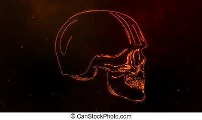 crâne, coureur, retro, casque