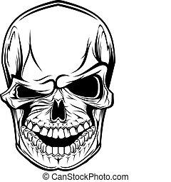 crâne, danger
