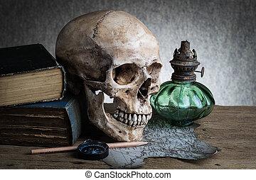 crâne, nature morte