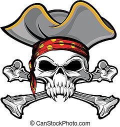 crâne, pirate