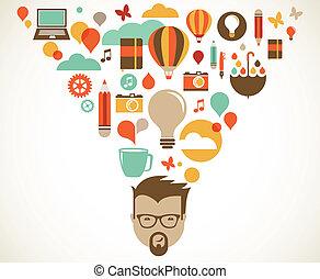 créatif, concept, conception, idée, innovation
