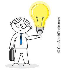 créatif, idée, avoir