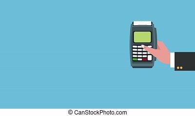 crédit, animation, hd, dataphone, carte
