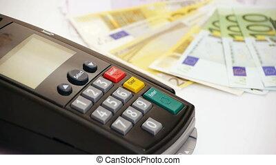 crédit, argent, carte, -, terminal, hd