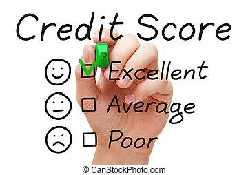 crédit, partition, excellent