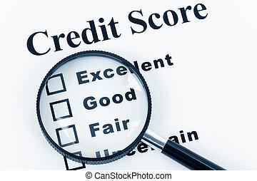 crédit, partition