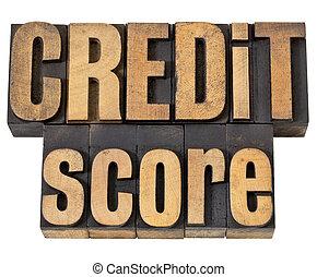 crédit, partition, type, bois