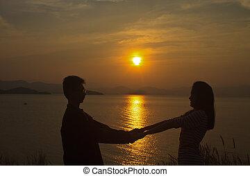 crépuscule, romantique