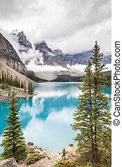 crêtes, banff parc national, moraine lac, vallée, dix