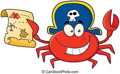 crabe, pirate