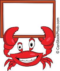 crabe, signe blanc