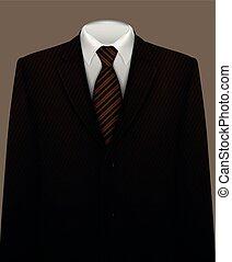cravate, fond, complet
