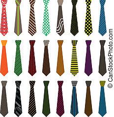 cravate, hommes, illustration
