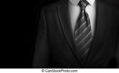 cravate, plainte grise