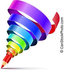 crayon, art, concept, conception, créatif